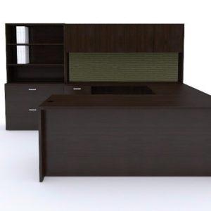 Cherryman Amber 71″ U Group Executive Desk Set