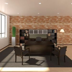 Cherryman Amber 71″ Bow Front Desk Office Suite