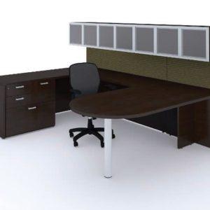 Cherryman Amber U Shaped Wall Desk Configuration
