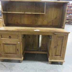 Double Pedestal Rustic desk & hutch